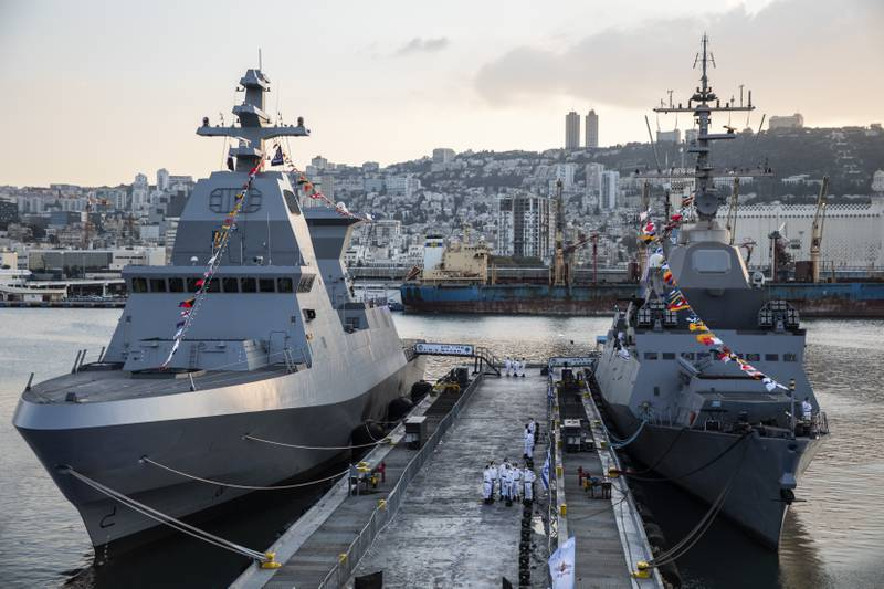 Saar 6 frigates without any armaments