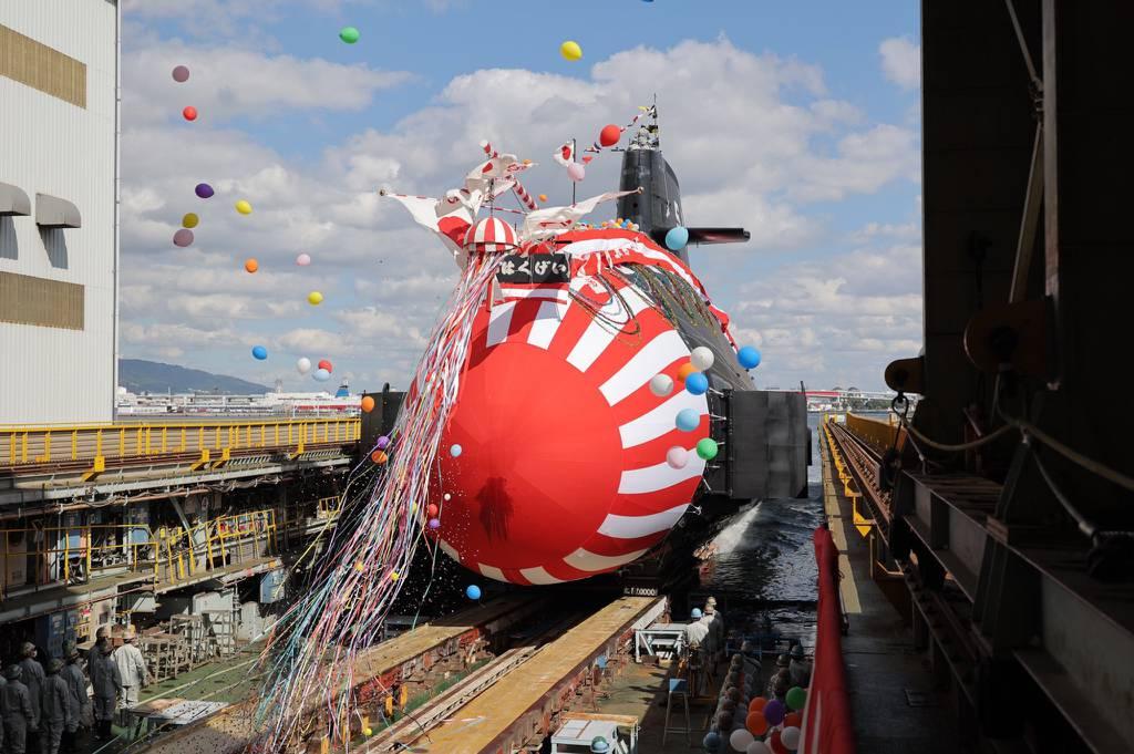 Japón lanza el segundo submarino de clase Taigei, 'Hakugei'
