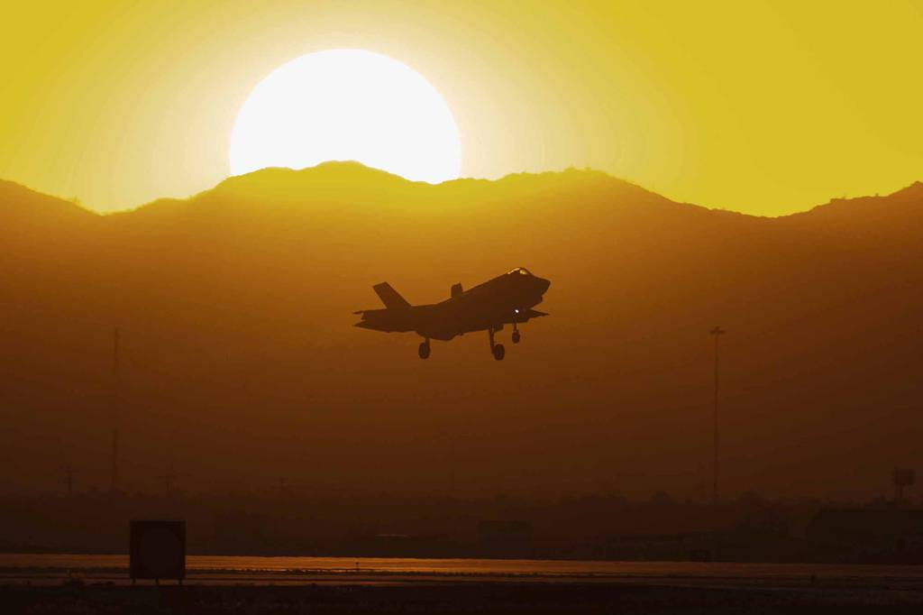 An F-35A Lightning II assigned to the 62nd Fighter Squadron prepares to land, Nov. 2, 2020, at Luke Air Force Base, Ariz.