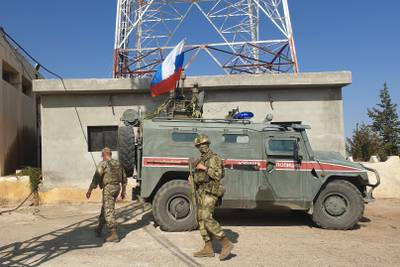 Russian soldiers Syria