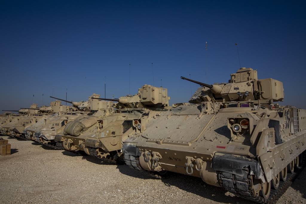 Bradley fighting vehicles