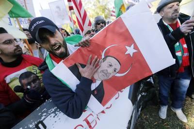 protest Turkish President Recep Tayyip Erdogan