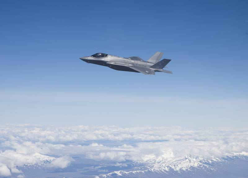 An F-35A Lightning II over the Utah Test and Training Range, April 22, 2019.