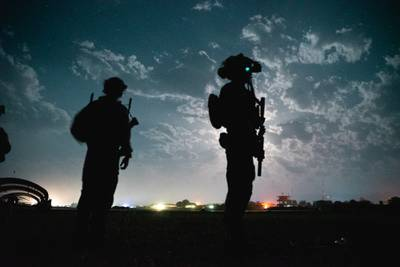 U.S. special operations service members conduct combat operations in support of Operation Resolute Support in Southeast Afghanistan, May 2019.