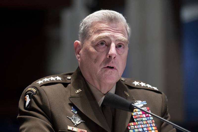 Chairman of the Joint Chiefs of Staff Gen. Mark Milley testifies during a House Armed Services Committee hearing on July 9, 2020, on Capitol Hill in Washington.