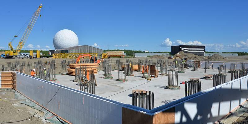 Clear Air Force Station's Long Range Discrimination Radar complex