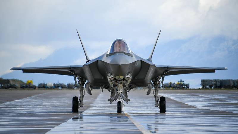 An F-35A taxis during a combat exercise at Hill Air Force Base, Utah.