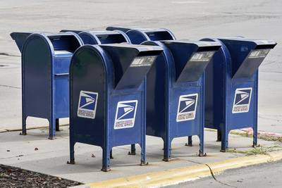 Mailboxes in Omaha, Neb., Aug. 18, 2020.